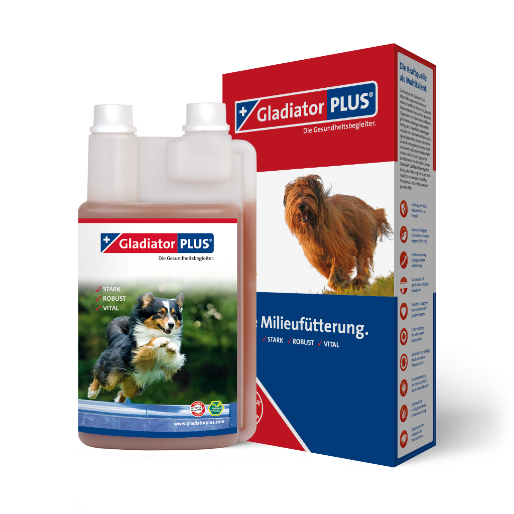 "Product picture ""GladiatorPLUS Dog - The Milieufeeding. 1000ml"""