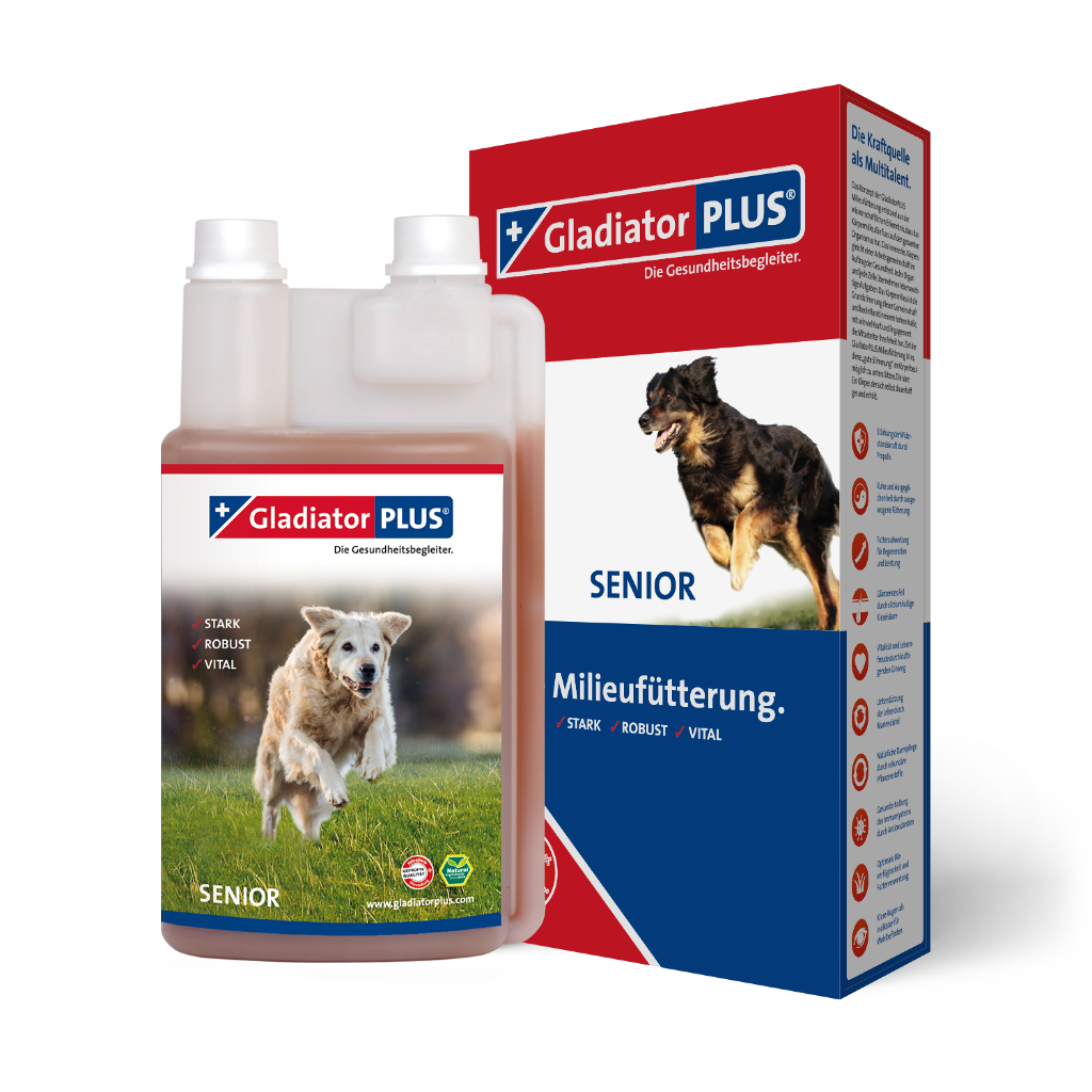 "Product picture ""GladiatorPLUS Senior Dog - The Milieufeeding. 1.000ml"""